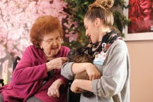 Gurwin's Memory Care Unit -- Pet therapy
