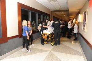 hallway shot paramedics